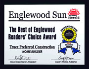 Englewood Sun Award Best Home Builder 2014