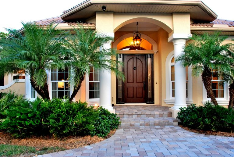 Catalina Custom Home Exterior Front Entry