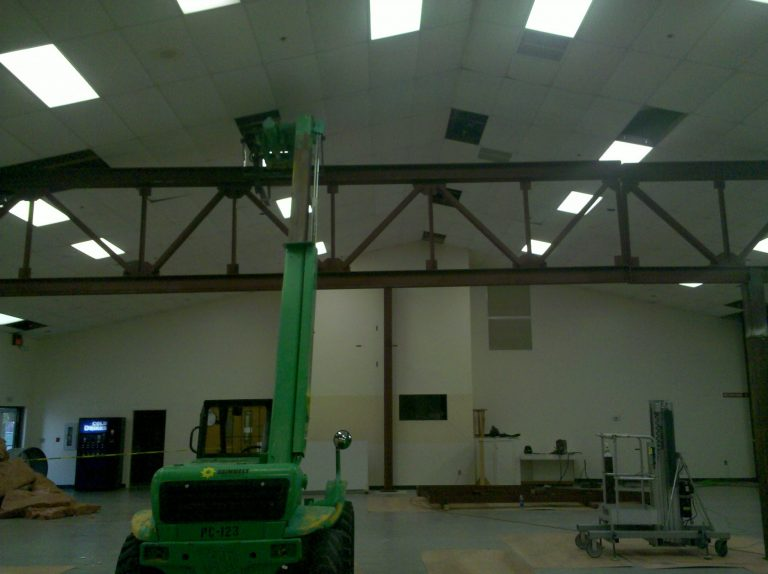 Renovation in Church Fellowship Hall
