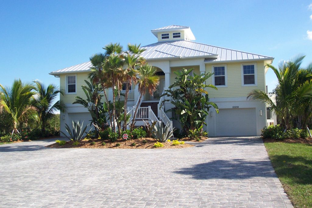 Custom Home In Placida Florida Key West Style Exterior