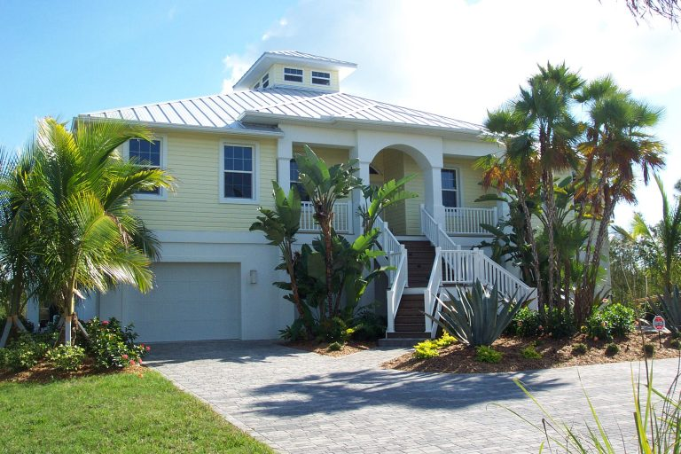Custom Home in Placida Florida - Key West Style - Exterior