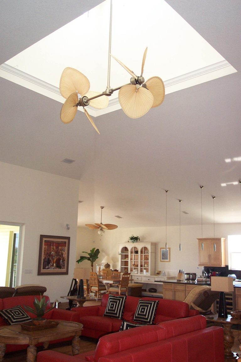 Custom Home in Placida Florida - Key West Style - Great Room with Skylight