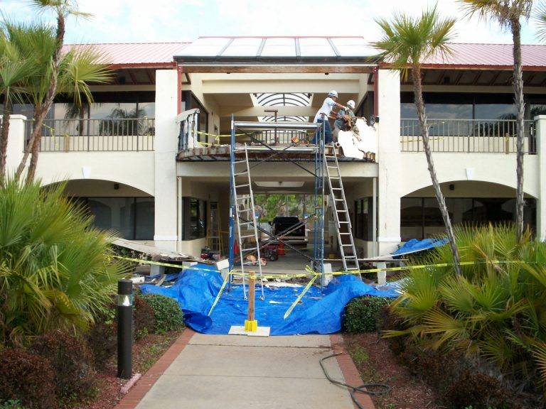 Commercial Renovation - Installing Railings
