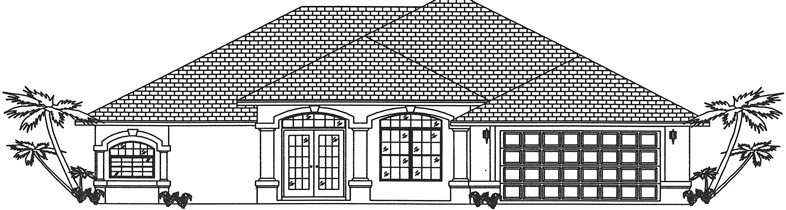 Rendering Floridian Model Home